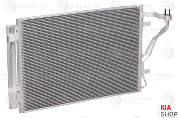 Радиатор кондиционера с ресивером Kia Cerato (09-)  Luzar