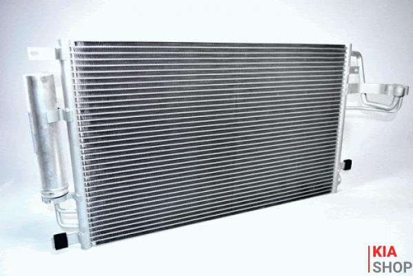 Радиатор кондиционера Tucson/Sportage 2.0/2.7 (04-) АКПП/МКПП с ресивером  Luzar