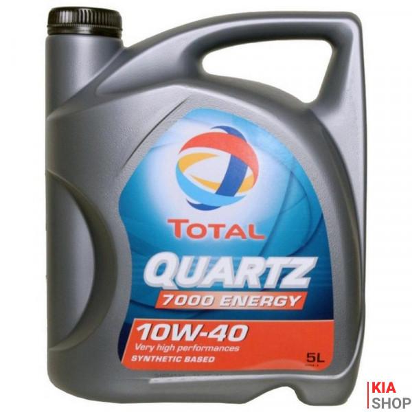 Моторное масло Total QUARTZ 7000 ENERGY 10W-40 полусинтетика  5 л.