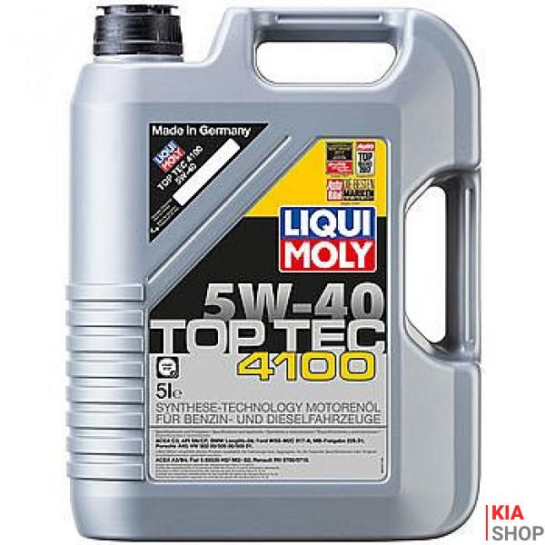 Моторное масло Liqui moly Top Tec 4100 5W-40 синтетика 5 л.