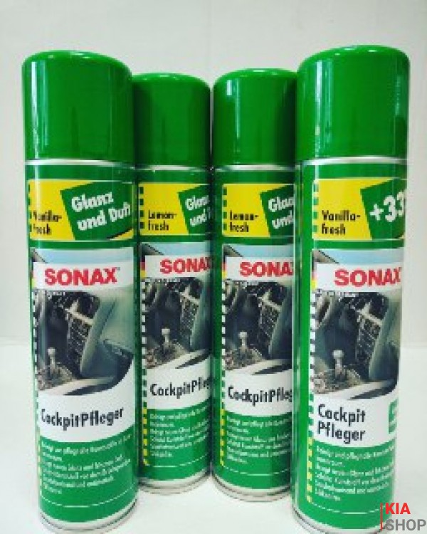 Очиститель пластика глянцевый с антистатиком ваниль 400ml Sonax