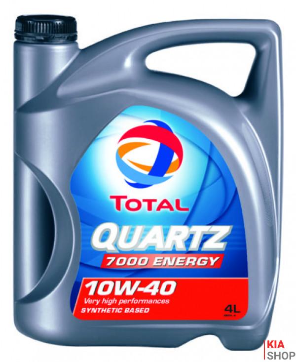 Моторное масло Total QUARTZ 7000 ENERGY полусинтетика 10W-40 4 л.