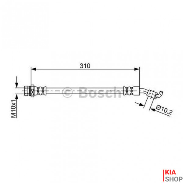 Шланг тормозной зад. лев. BOSCH  HYUNDAI ix35 Kia Sportage 2.0  13-15