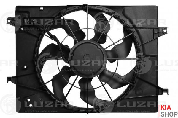 Э/вентилятор охл. с кожухом SPORTAGE 2.0i (04-)/TUCSON 2.0i (04-) (HALLA)  Luzar