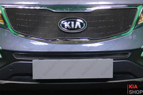 Защита Радиатора KIA SPORTAGE III Рестайлинг 2014-2015г.В. Black Комплект