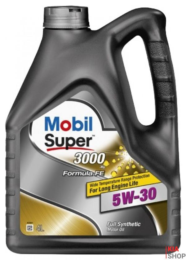 Моторное масло  Mobil Super 3000 X1 Formula FE 5W-30 синтетика  4 л.