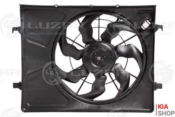 Электровентилятор охлаждения с кожухом Kia CEED/i30 (07-) Luzar