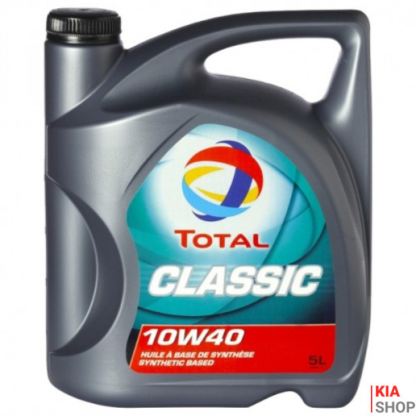 Моторное масло Total Classic 10W-40 полусинтетика  5 л.