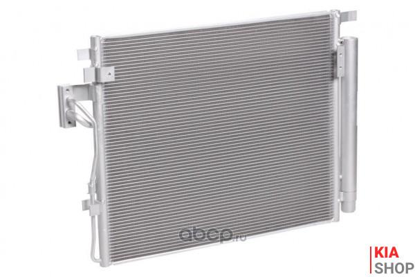 Радиатор кондиционера с ресивером Kia Sorento II (09-) 2.0D/2.2D  Luzar