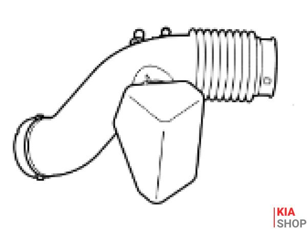 ..Патрубок фільтру повітряного A-
