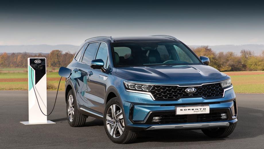 Высокая мощность и низкий уровень выбросов от нового подключаемого модуля Kia Sorento Hybrid