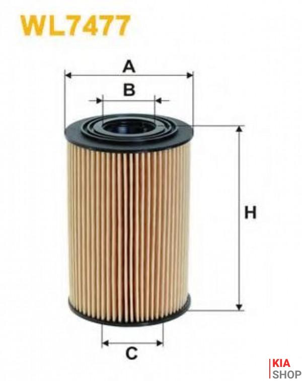 Фильтр масляный Wix