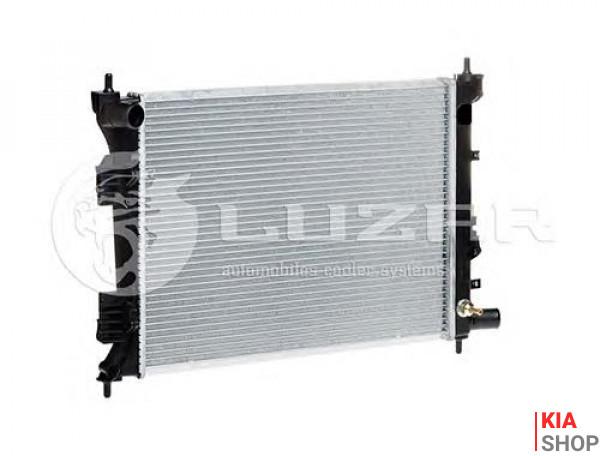 Радиатор охлаждения Solaris/Rio 1.4/1.6 (10-) МКПП (алюм)  Luzar