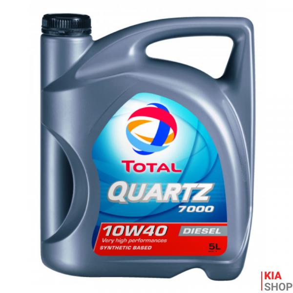 Моторное масло Total QUARTZ DIESEL 7000 полусинтетика 10W-40 5 л.