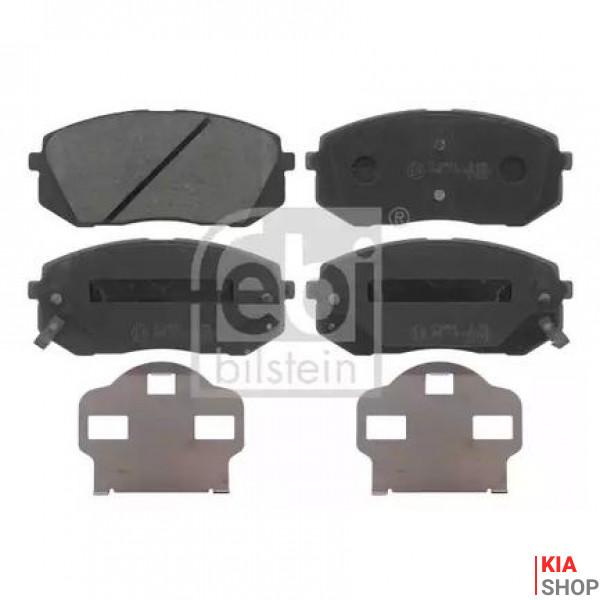 FEBI HYUNDAI Тормозные колодки передн.Kia Carens III,Sportage,ix35,55 05-