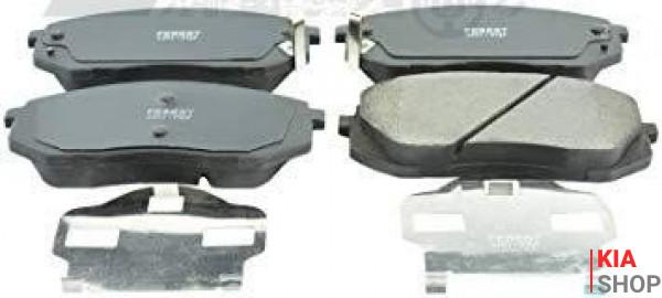 Колодки тормозные передние 58101-1DA00 Kia Carens (06-) E9 (K07PADE900802) KAP