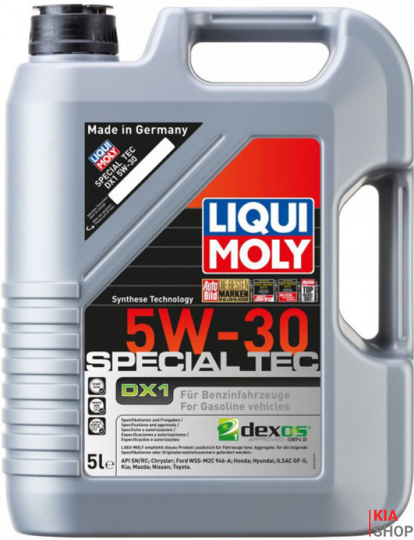 LM 5л Special Tec DX1 5W-30 Масло моторное синтет. GM dexos1 Gen 2, API: SN-RC, ILSAC: GF-5, Ford: WSS-M2C 946-A, Chrysler, Honda, Hyundai, Kia, Mazda, Nissan, Toyota