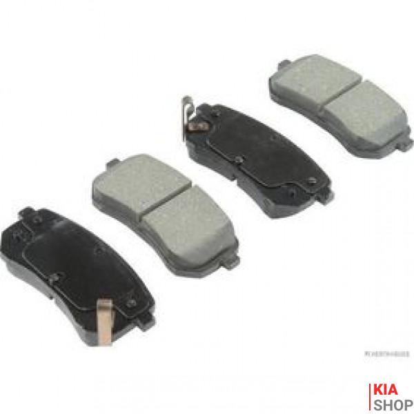 Колодки тормозные задние 58302-07A10 Kia Picanto (06-) E9 (K07PADE901740) KAP