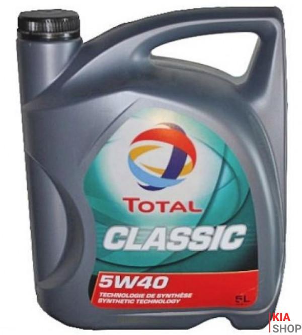 Моторное масло Total Classic 5W-40 синтетика  5 л.