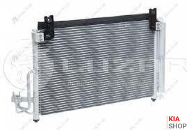 Радиатор кондиционера Rio 1.3/1.5 (00-) АКПП/МКПП с ресивером  Luzar