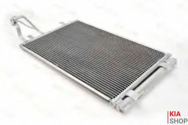 Радиатор кондиционера Ceed 1.4/1.6/2.0 (07-) АКПП/МКПП с ресивером  Luzar