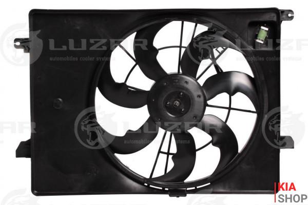 Э/вентилятор охлаждения с кожухом KIA Sorento III (14-) 2.4i  LUZAR