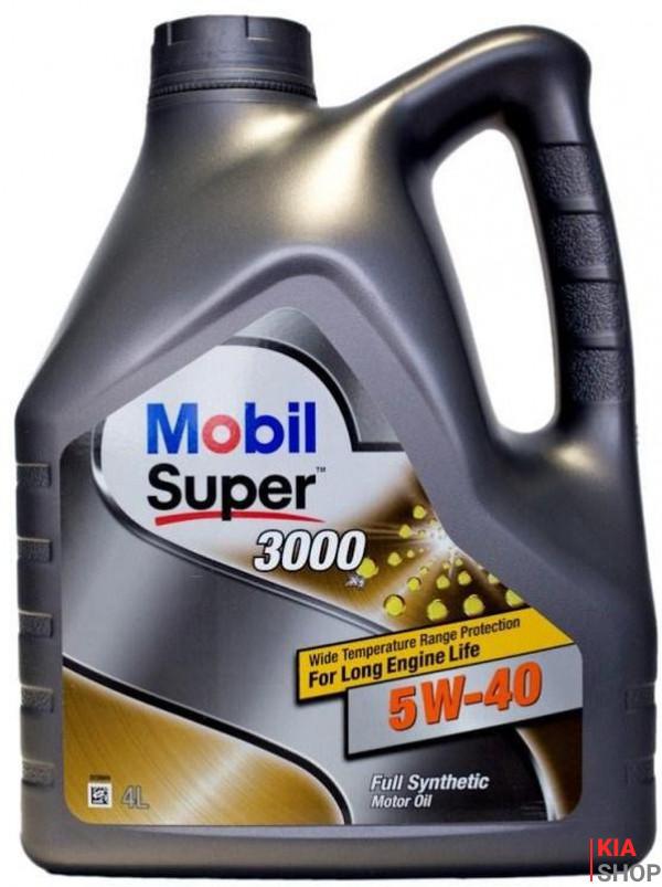 Моторное масло Mobil Super 3000 X1 5W-40 синтетика  4 л.