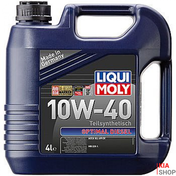 Моторное масло Liqui moly Optimal Diesel 10W-40 полусинтетика  4 л.