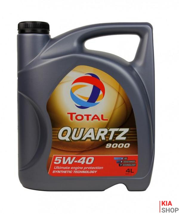Моторное масло Total QUARTZ 9000 5W-40 синтетика  4 л.