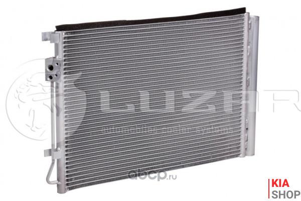 Радиатор кондиционера Rio IV 1.4i/1.6i (17-) АКПП/МКПП с ресивером 534*371*16 Luzar