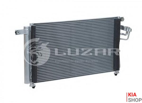 Радиатор кондиционера Rio 1.4/1.6 (05-) АКПП/МКПП Luzar