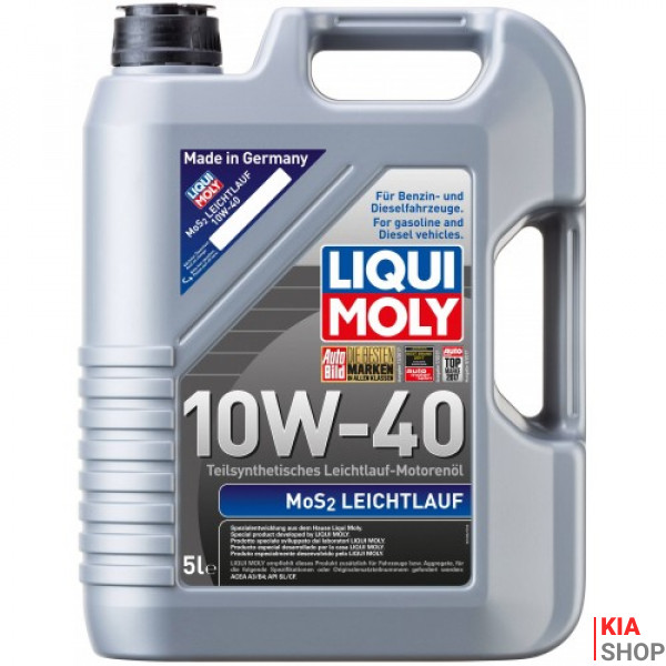 Моторное масло MoS2 Leichtlauf 10W-40 полусинтетика  5 л.