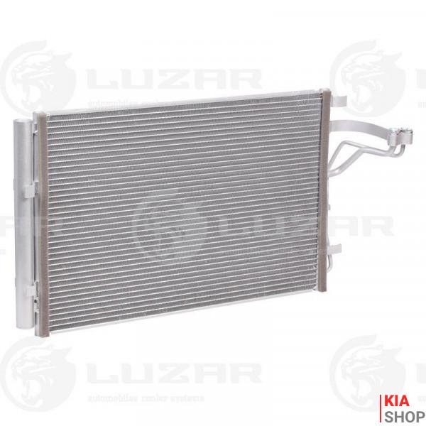 Радиатор кондиционера с ресивером Kia Soul II (14-) 1.6i/2.0i  Luzar