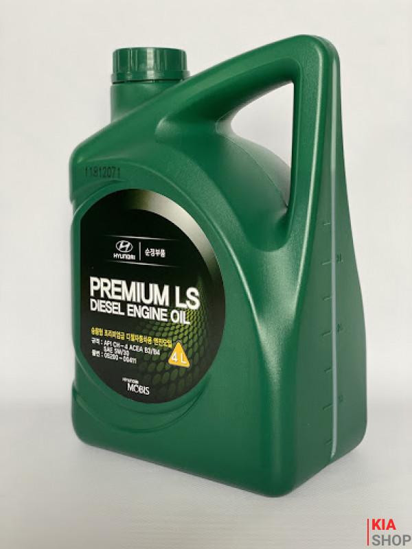 Масло моторное Hyundai-KIA Premium LS Diesel 5W-30 полусинтетика 5W-30 4 л.