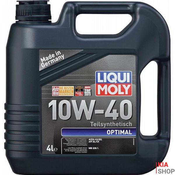 Моторное масло Liqui moly Optimal 10W-40 полусинтетика  4 л.