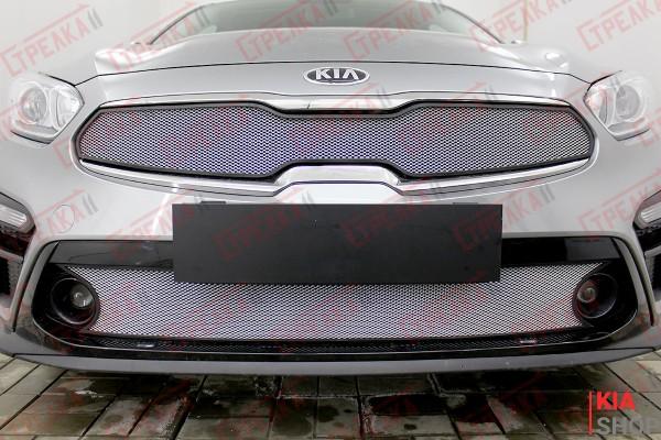 Защита Радиатора KIA CERATO IV 2018, 2019, 2020г.В Chrome Комплект