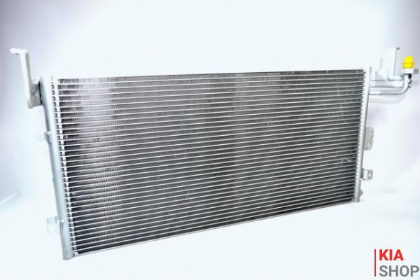 Радиатор охлаждения Rio 1.4/1.6 (05-) МКПП (алюм) Luzar