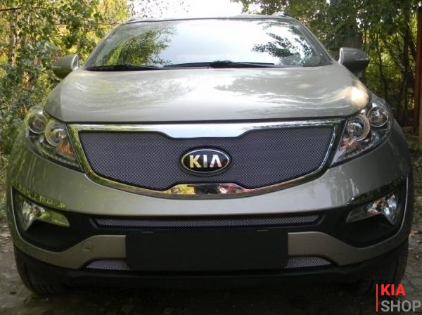 Защита Радиатора KIA SPORTAGE III 2010-2014г.В. Chrome Комплект