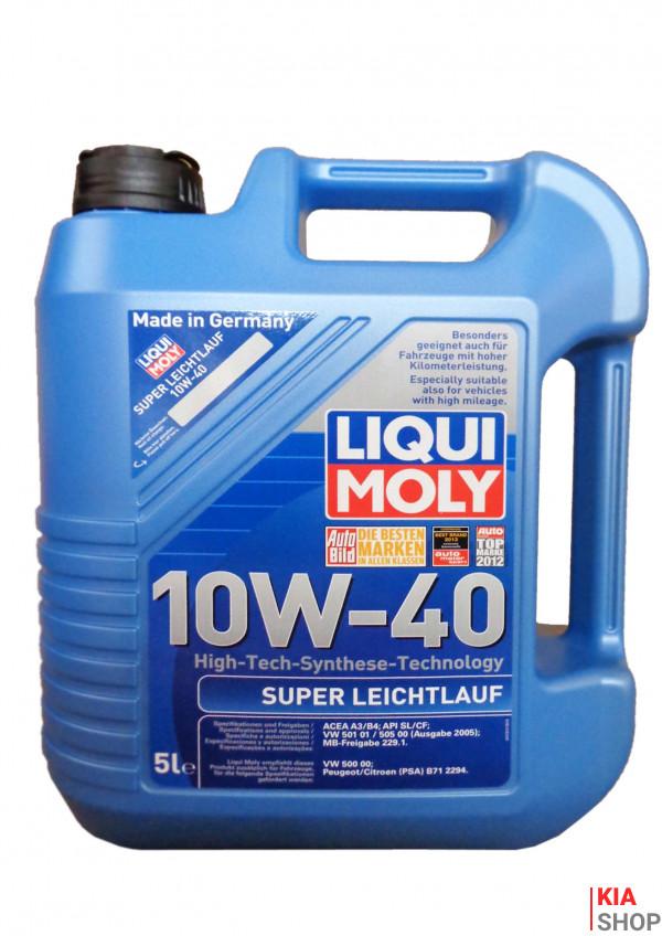 Моторное масло  Liqui moly Super Leichtlauf 10W-40 синтетика  5 л.