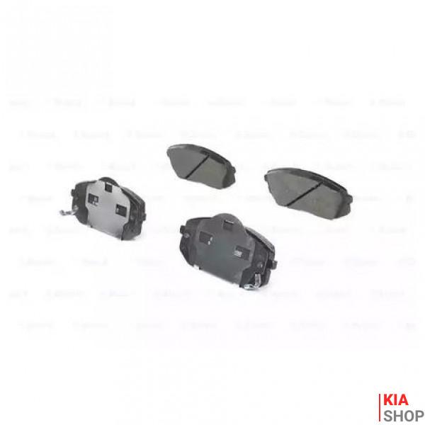 Тормозные колодки передн.Carens III,Sportage,Hyundai ix35,55 05-  DELPHI