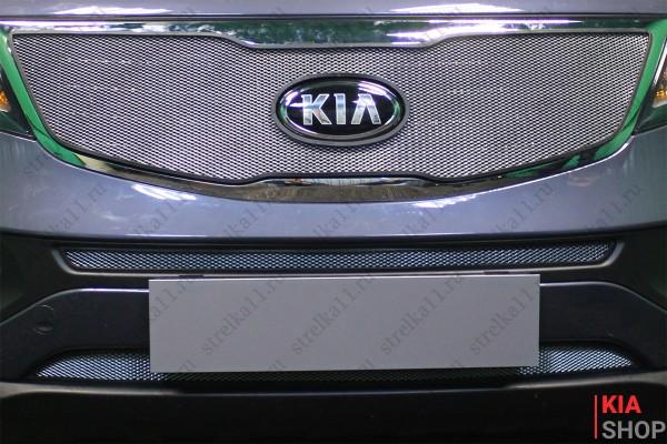 Защита Радиатора KIA SPORTAGE III Рестайлинг 2014-2015г.В. Chrome Комплект