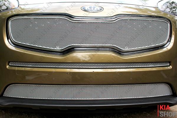 Защита Радиатора KIA SPORTAGE IV 2016, 2017, 2018г.В. Chrome Premium Комплект