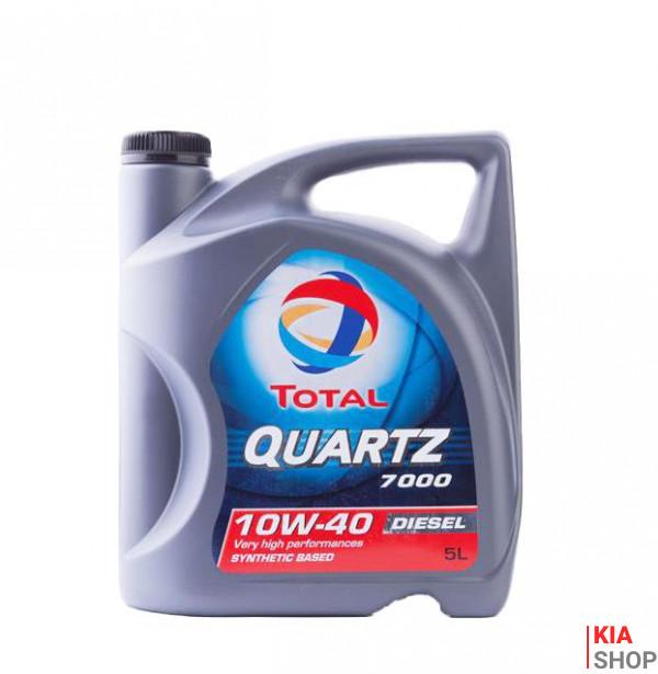 Моторное масло Total QUARTZ 7000 Diesel 10W-40 полусинтетика  5 л.